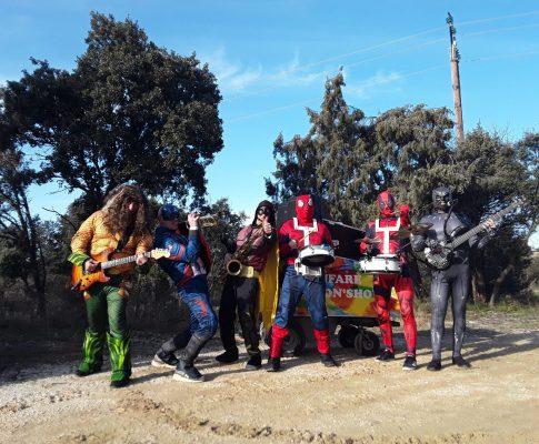 Compagnie, Orchestre de rue Cartoon Show : Fanfare électrique Les Super Héros